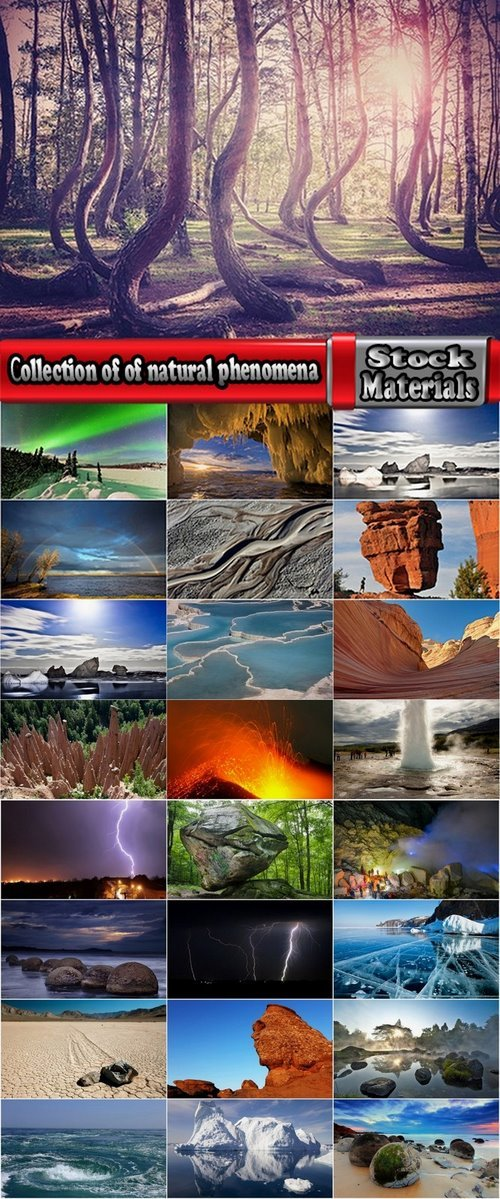 Сollection of of natural phenomena from around the world 25 UHQ Jpeg