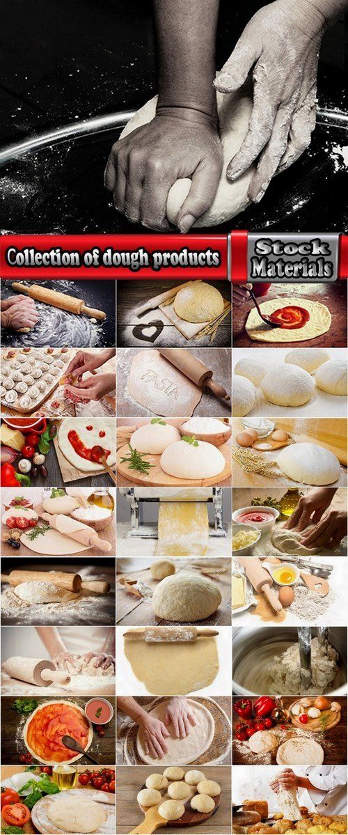 Сollection of dough products 25 UHQ Jpeg