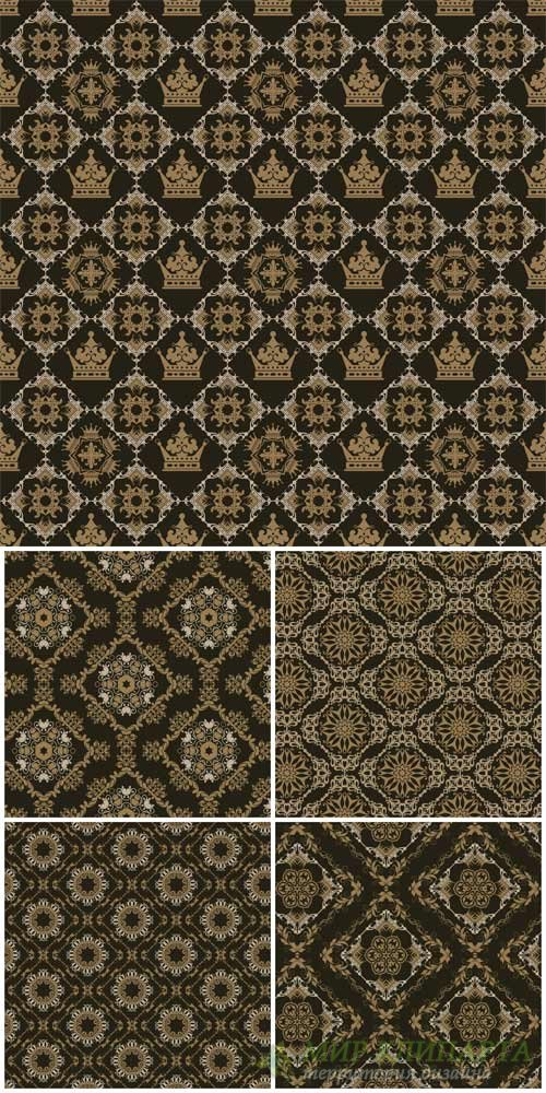 Vector backgrounds with various patterns, floral texture