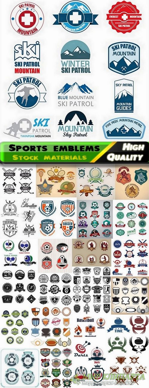 Sports emblems and logotypes - 25 Eps