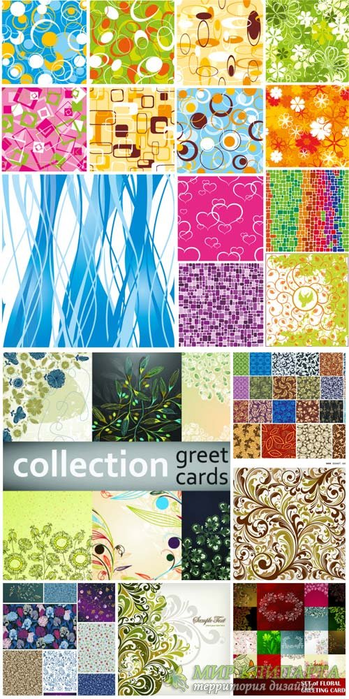 Texture, vector backgrounds, beautiful floral patterns