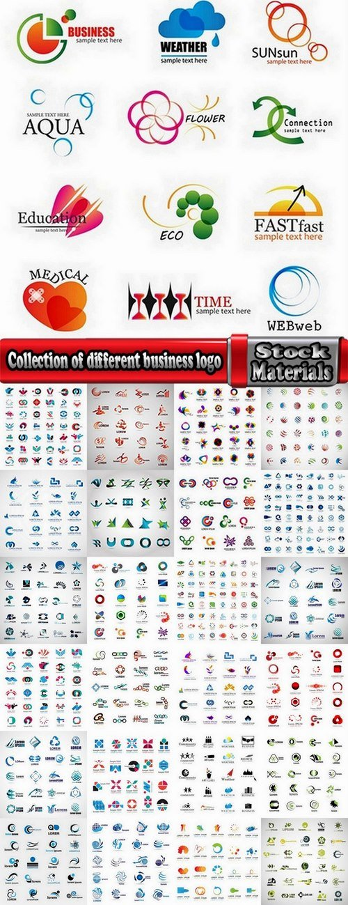 Collection of different business logo #2-25 Eps