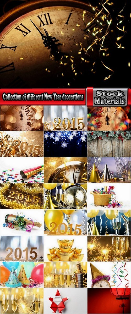 Collection of different New Year decorations #2-25 UHQ Jpeg