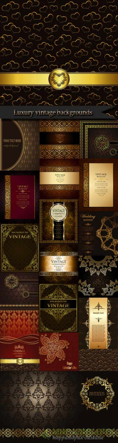 Luxury vintage backgrounds