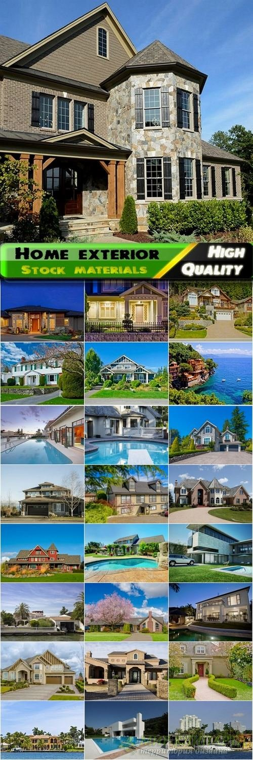 Luxury home exterior Stock Images - 25 HQ Jpg