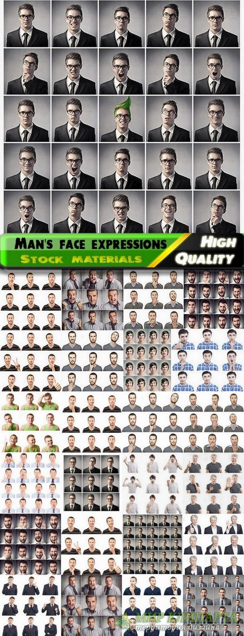 Man's face expressions Stock images - 25 HQ Jpg