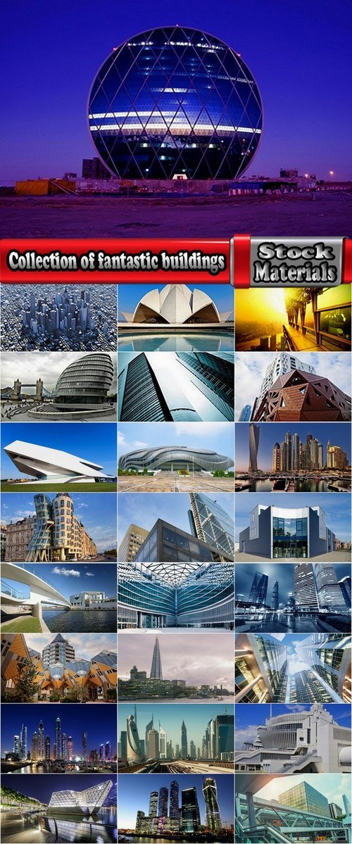 Collection of fantastic buildings 25 UHQ Jpeg