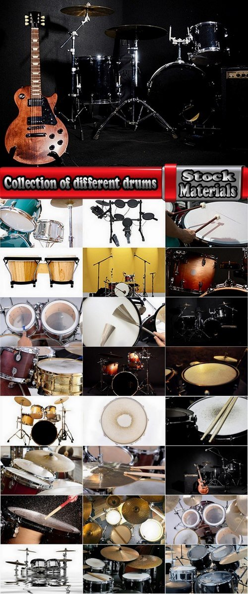 Collection of different drums 25 UHQ Jpeg