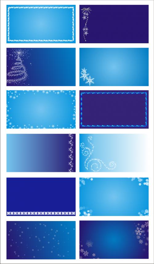 Фоны для визиток и творческих работ зимние.