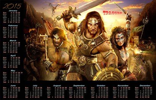 Календарь на 2015 год - Викинги