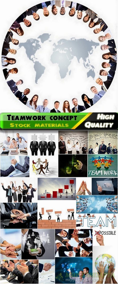 Teamwork concept and businessmans Stock images - 25 HQ Jpg