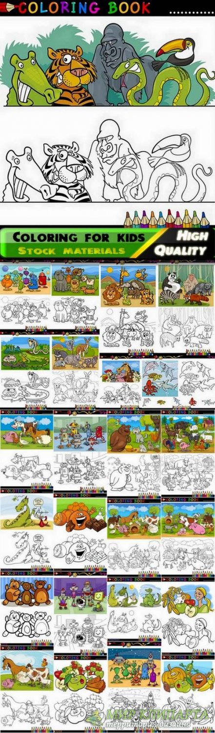 Coloring for kids with nature and animals #2 - 25 Eps