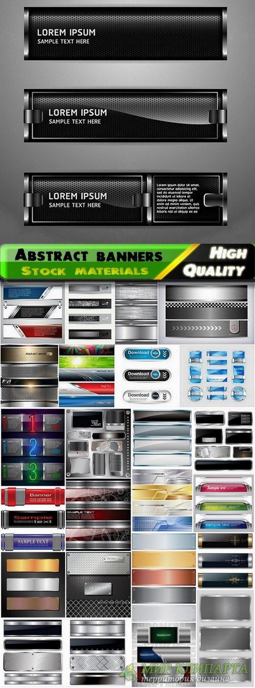 Abstract banners and metal elements - 25 Eps