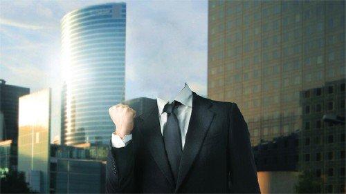 Шаблон для фотошопа - Успешный бизнесмен