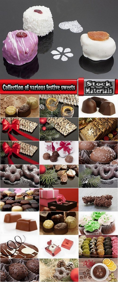 Collection of various festive sweets #2-25 UHQ Jpeg