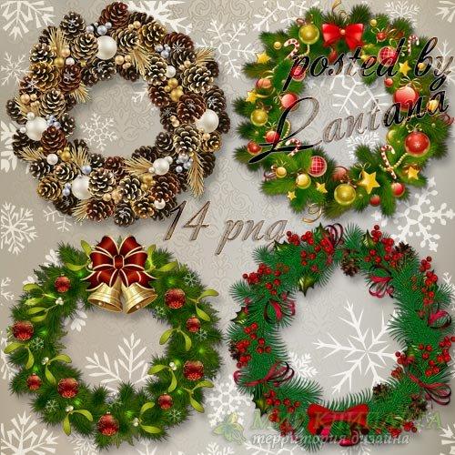 Новогодние и рождественские веночки