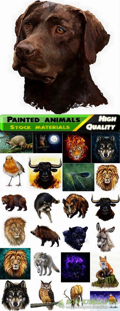 Beautiful animals painted in oils and watercolors - 25 HQ Jpg