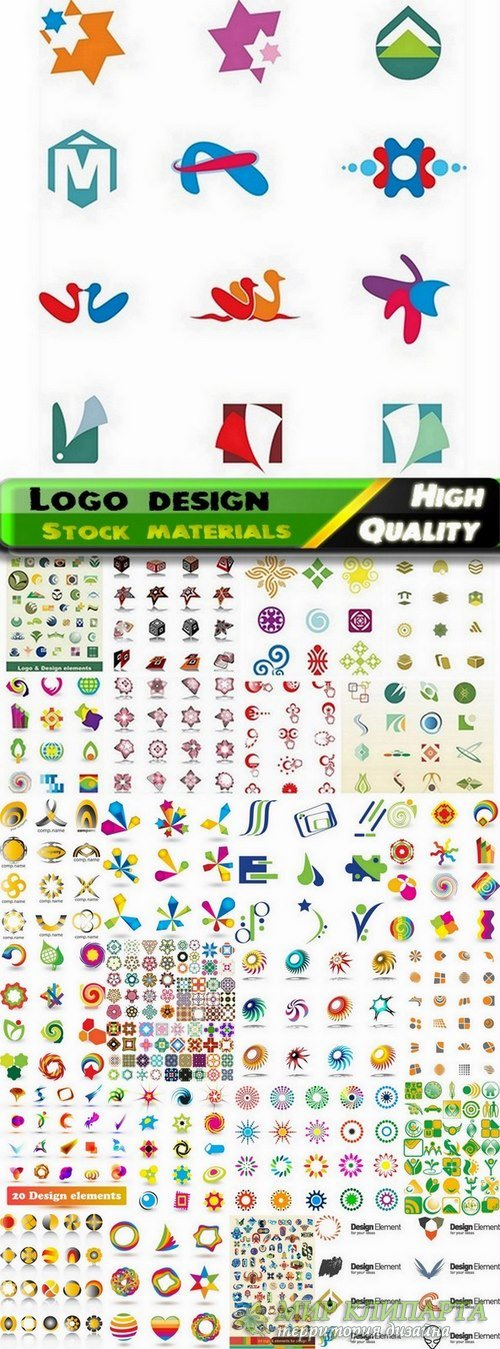 Logo Design in vector Set from stock #48 -  25 Eps