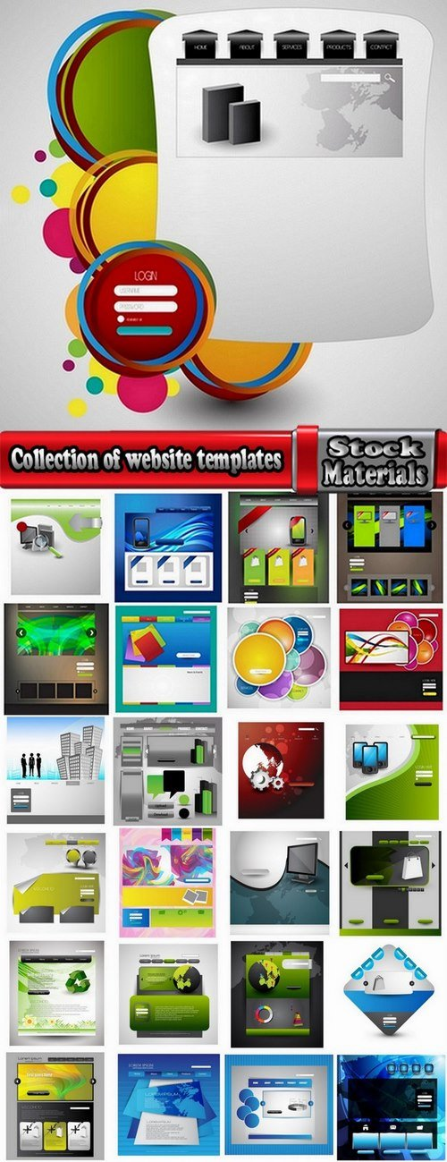 Collection of website templates #3-25 Eps