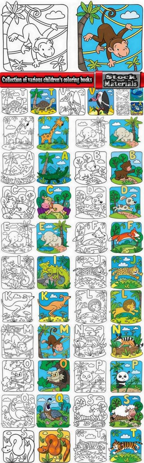 Collection of various children's coloring books 25 Eps