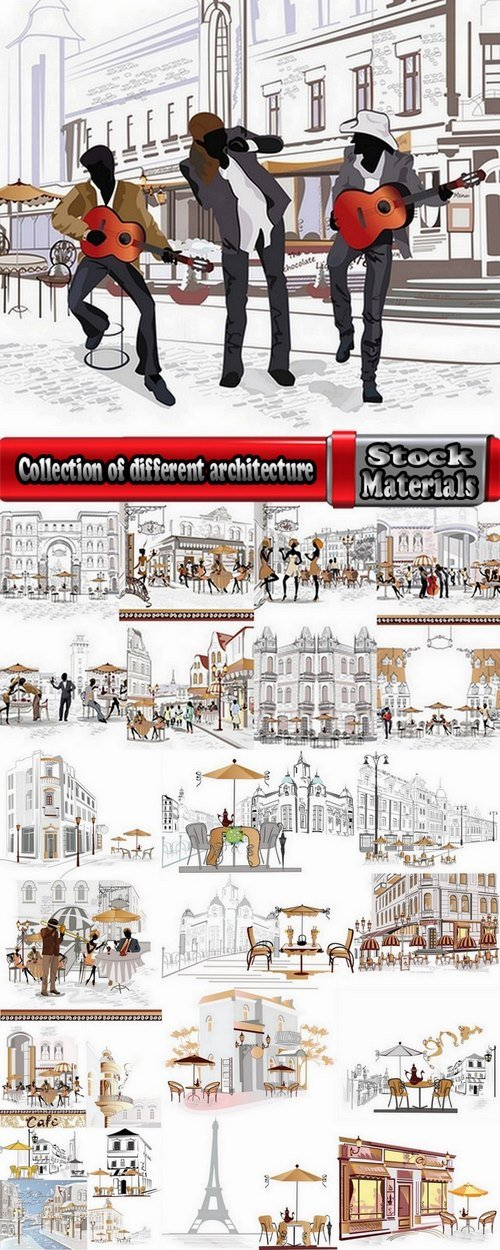 Collection of different architecture 25 Eps