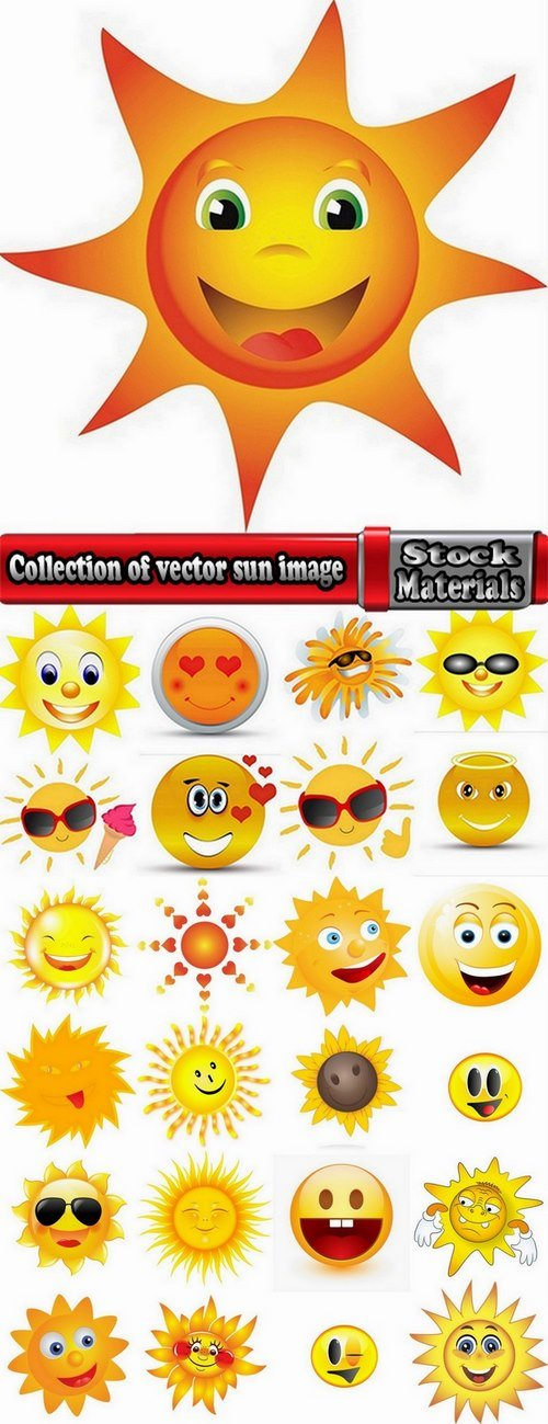 Collection of vector sun image 25 Eps