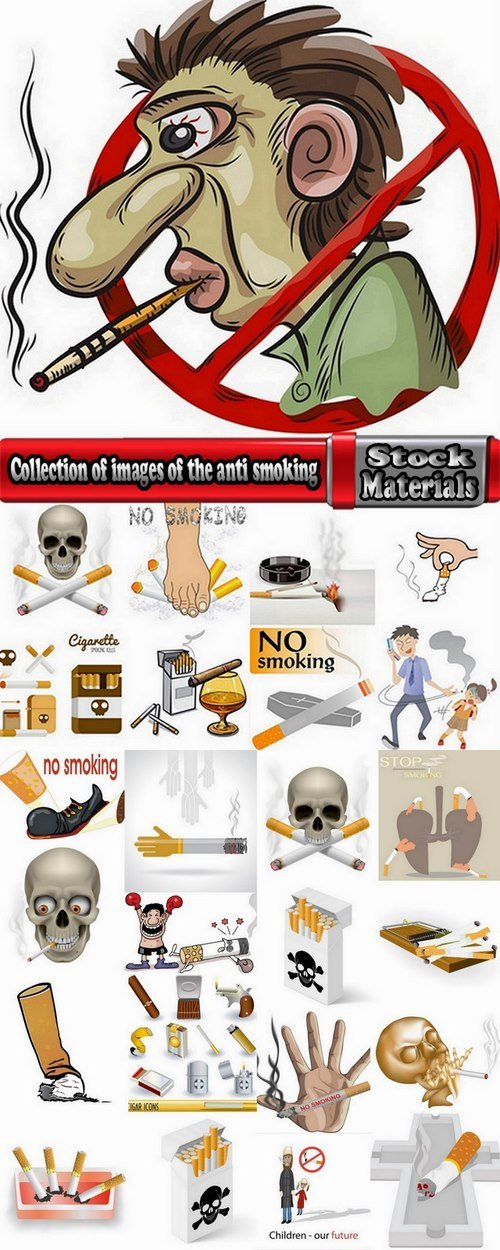 Collection of images of the anti smoking vector 25 Eps