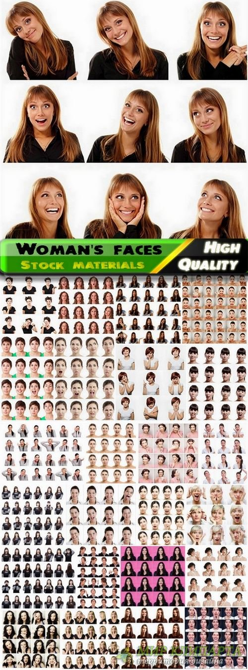 Woman's face expressions Stock images - 25 HQ Jpg