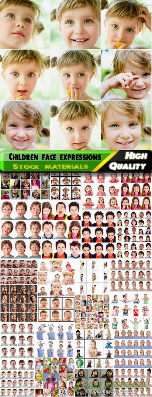 Children face expressions Stock images - 25 HQ Jpg