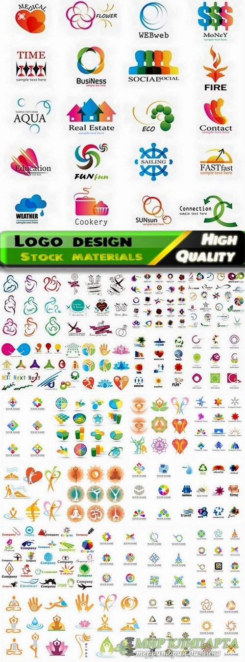 Logo Design in vector Set from stock #49 -  25 Eps