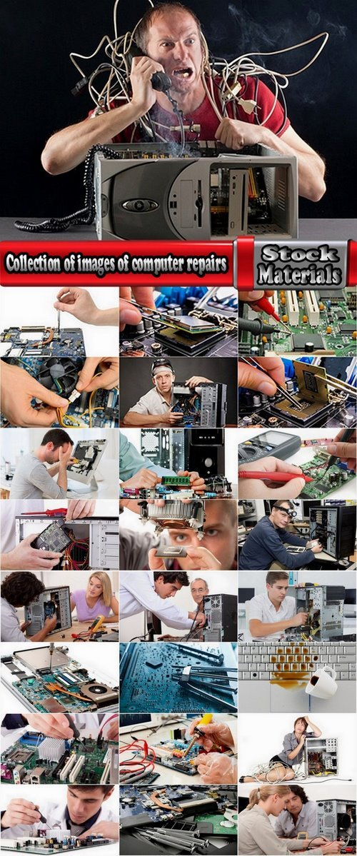 Collection of images of computer repairs 25 UHQ Jpeg