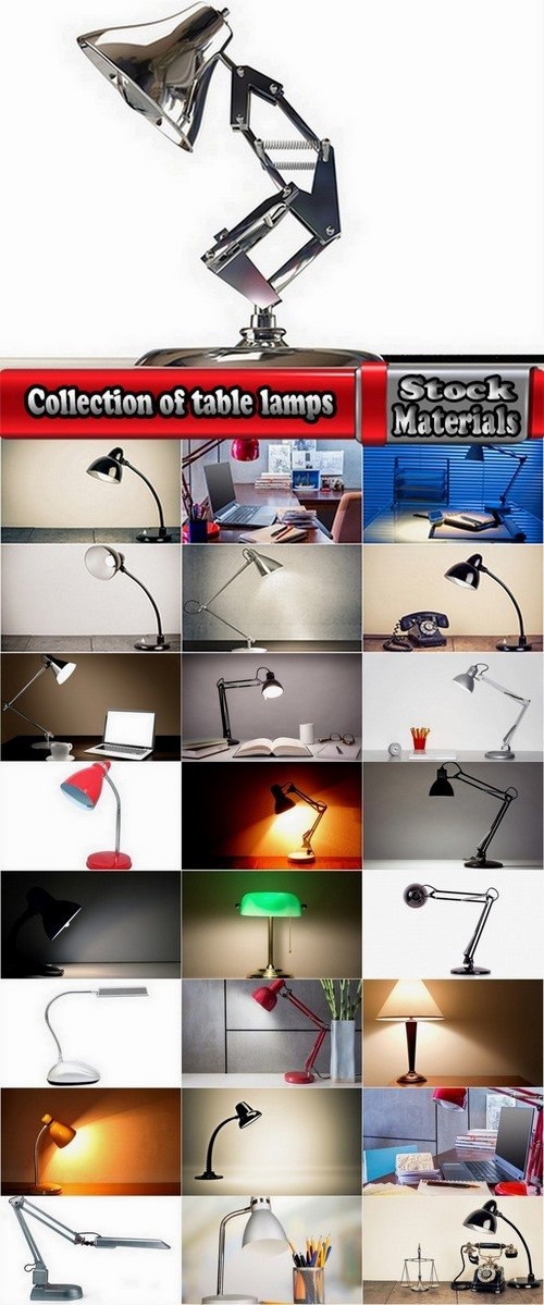 Collection of table lamps 25 UHQ Jpeg