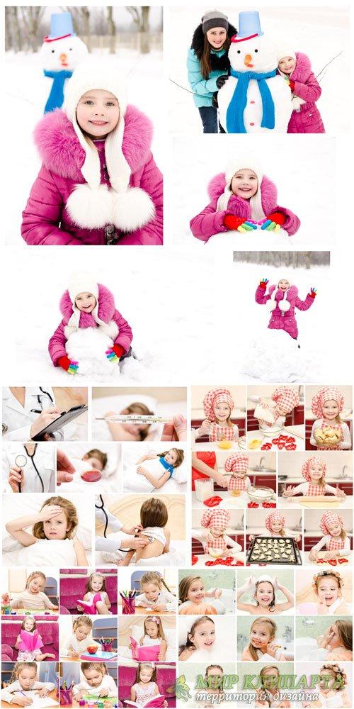 Children, children's collage - stock photos