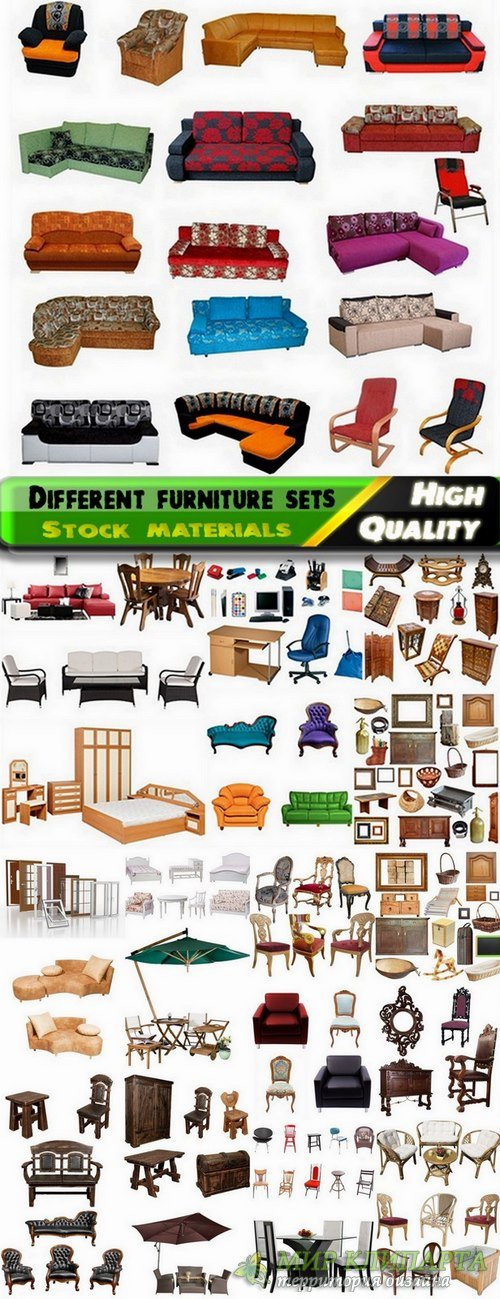 Different furniture sets Stock images - 25 HQ Jpg