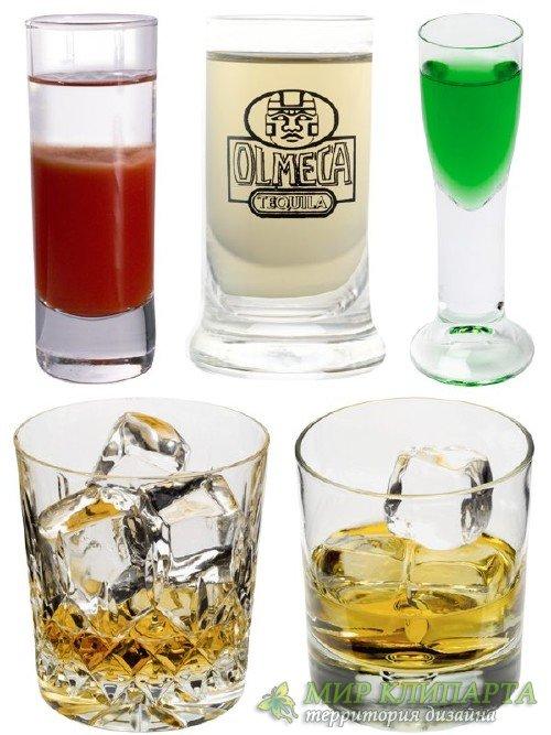 Спиртные напитки и коктейли (подборка изображений)