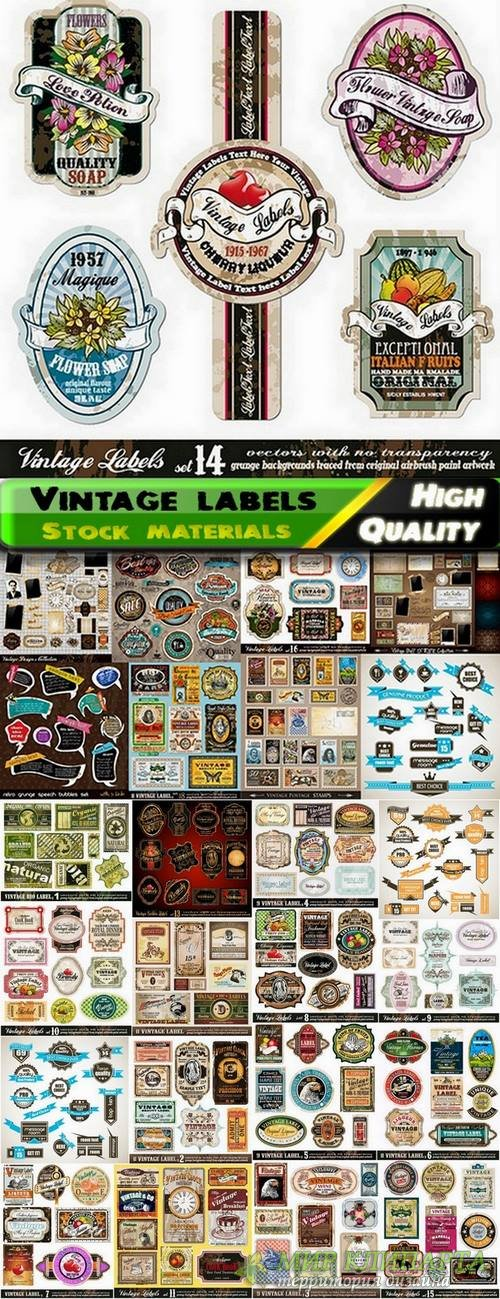 Vintage labels and stickers template design - 25 Eps