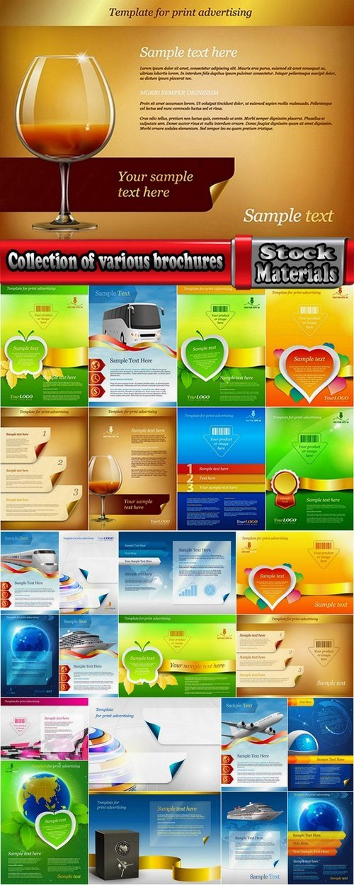 Collection of various brochures 25 UHQ Jpeg