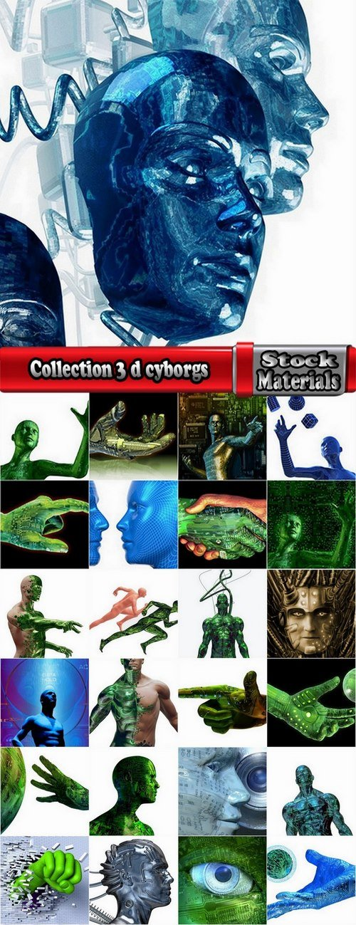 Collection 3 d cyborgs 25 UHQ Jpeg