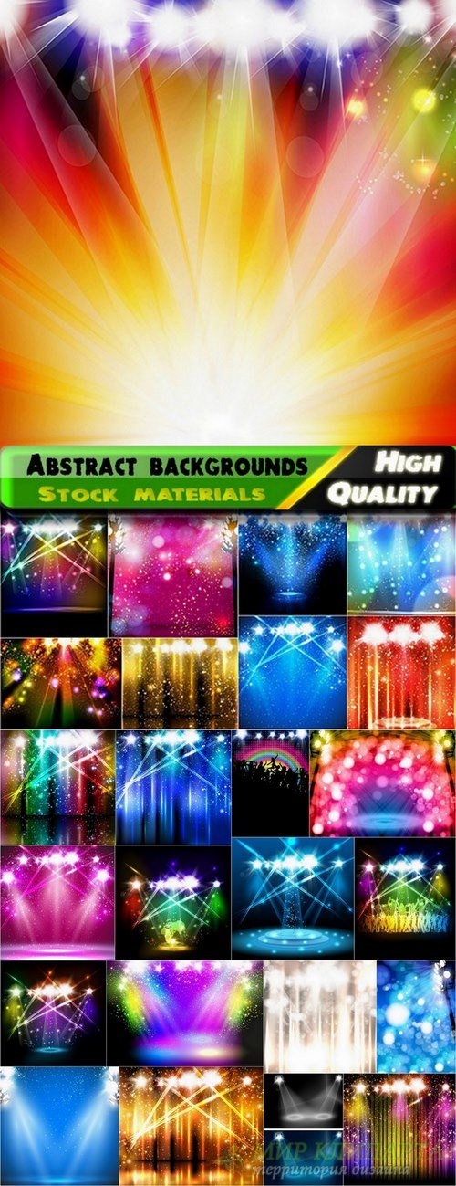 Abstract backgrounds for party flyers - 25 Eps