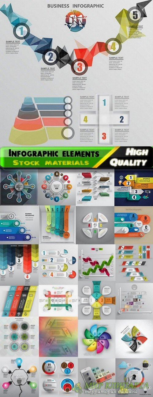 Infographic Design Elements in vector set from stock #99 - 25 Eps