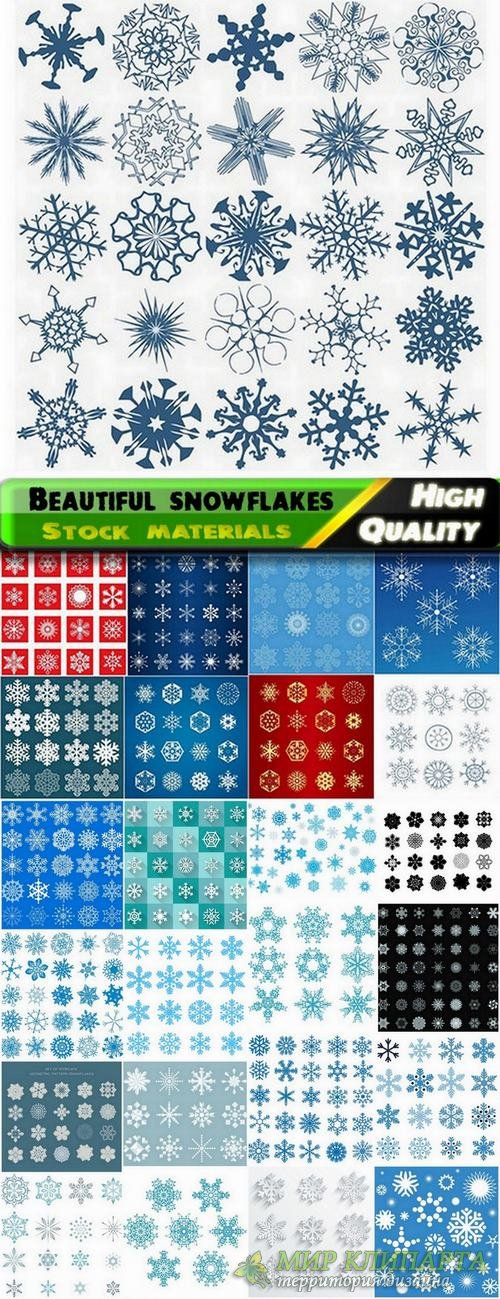 Beautiful vector snowflakes from stock - 25 Eps