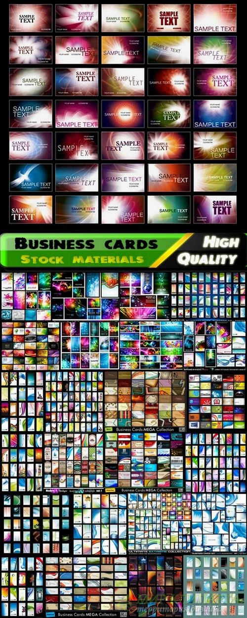 Big collection of business card templates in vector from stock - 25 Eps
