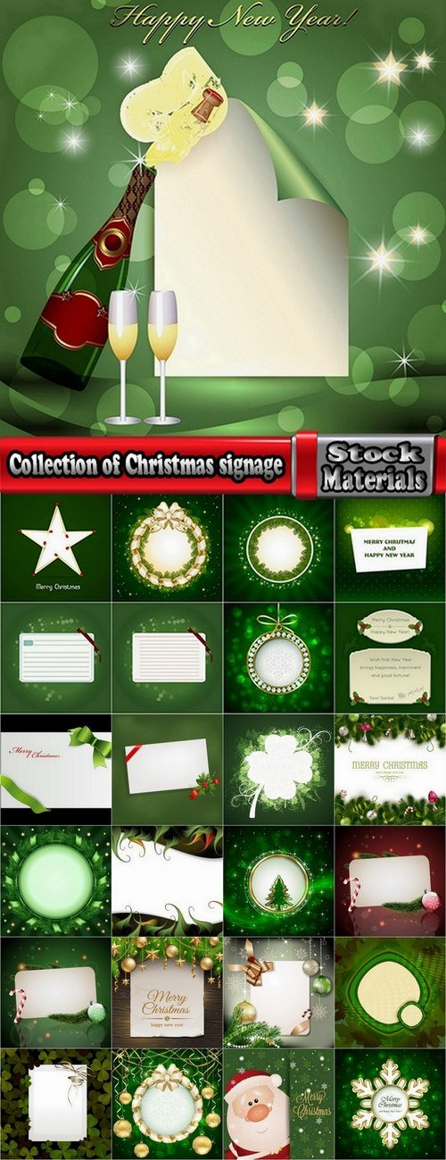 Collection of Christmas signage 25 Eps