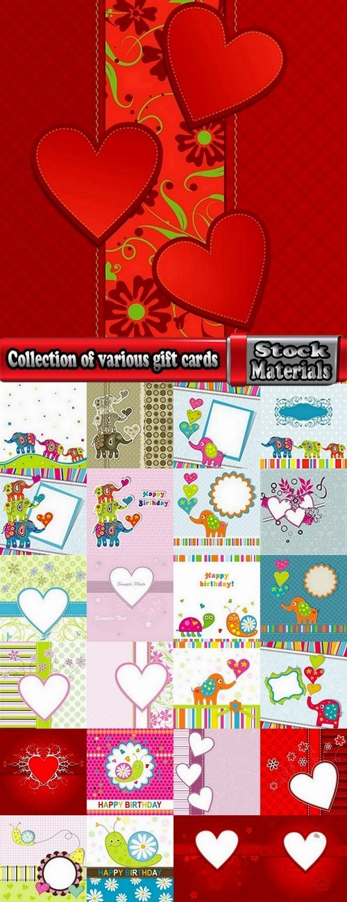 Collection of various gift cards #5-25 Eps
