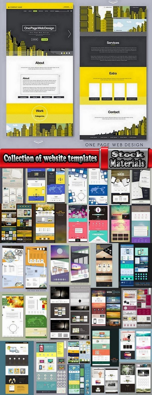 Collection of website templates #4-25 Eps