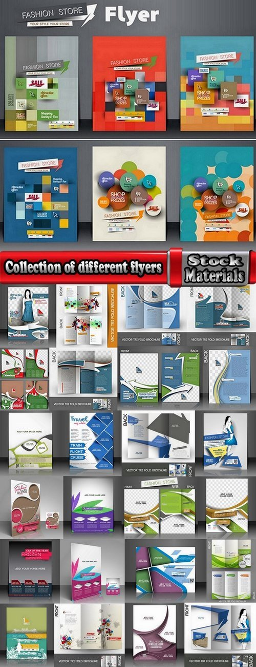 Collection of different flyers 25 Eps