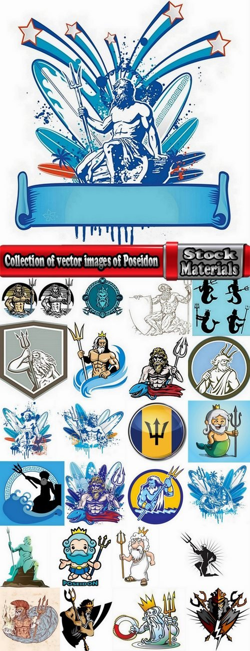 Collection of vector images of Poseidon 25 Eps