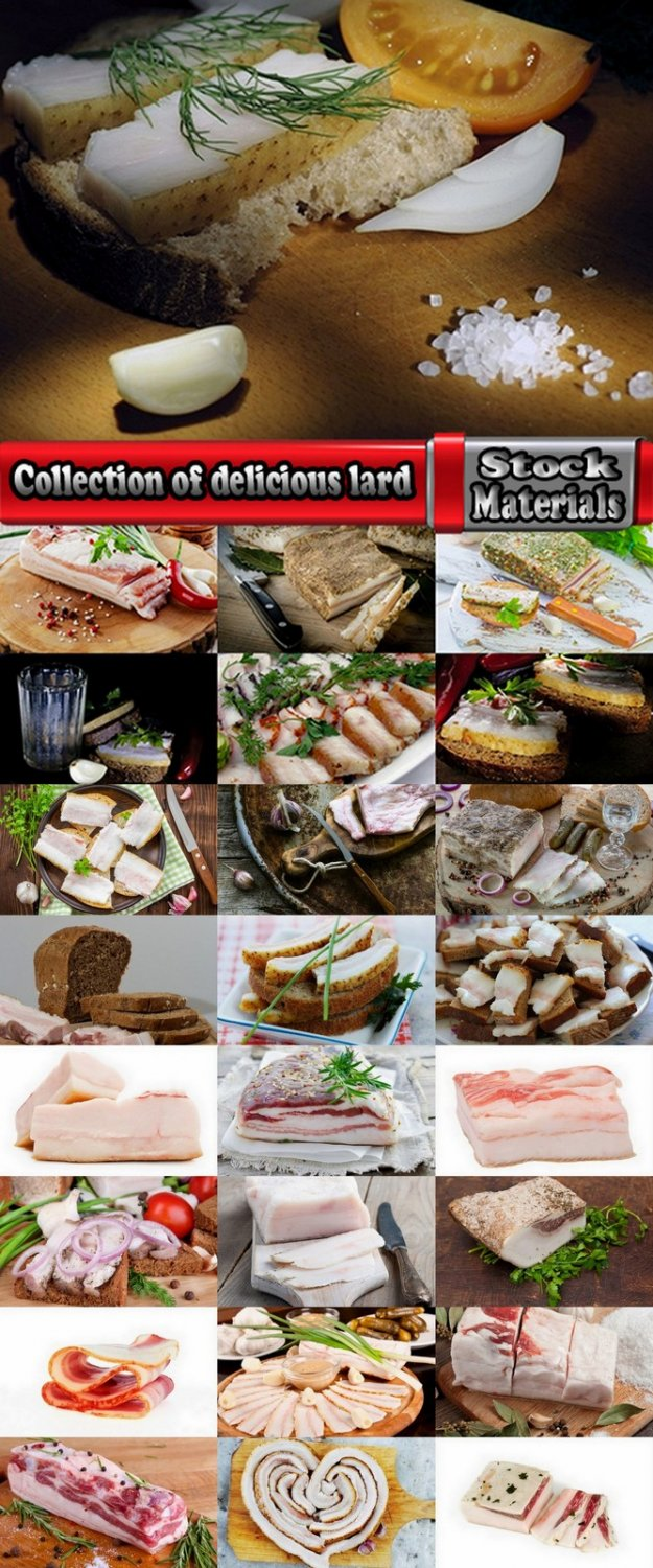 Collection of delicious lard 25 UHQ Jpeg