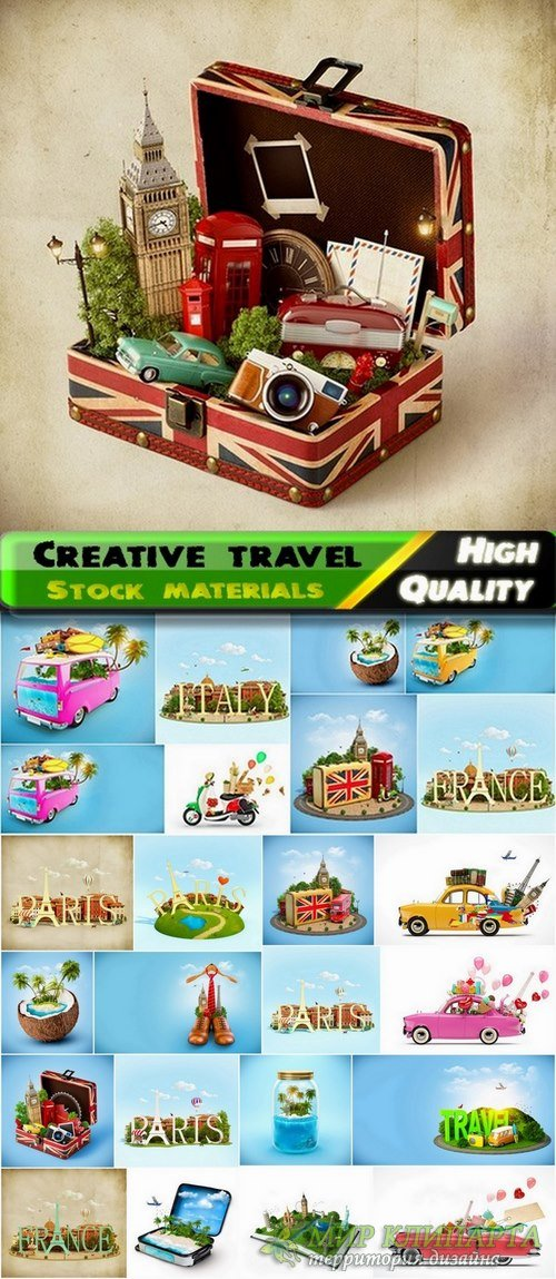 Creative photos with travel theme Stock images - 25 HQ Jpg