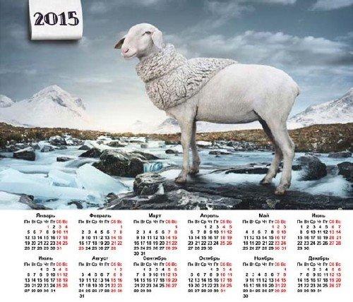 На 2015 год календарь - Модная овечка